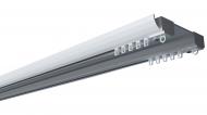 Карниз стельовий алюмінієвий підсилений двохрядний DS-2 270 см Білий