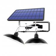 Вуличний світильник ліхтар на сонячній батареї Hooree з двома енергозберігаючими лампами (SF-4)