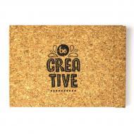 Альбом для акварелі еко Kiri sketch Будь креативним А4 Cвітлий корок