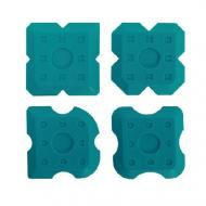 Набір шпателів аплікаторів BIHUI для силікону 4 шт. (STAK4)