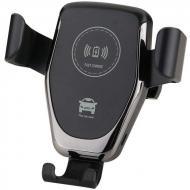 Держатель автомобильный универсальный для телефона с беспроводной зарядкой HOL HWC 1