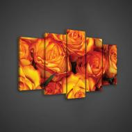 Модульная картина на холсте 2x20x40/2x20x50/1x20x60 см Цветы - красивые розы (PS2512S17)