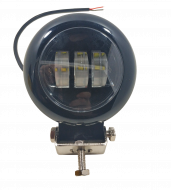 Фара LED кругла 30W 3 діода Black