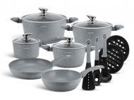 Набор посуды Edenberg EB-5620 с мраморным покрытием 15 предметов (JRD512H1D)