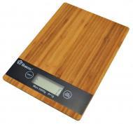 Кухонные весы Domotec Ms-a до 5 кг сенсорные с платформой из дерева (bks_01808)