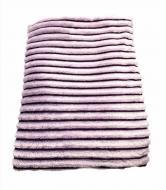 ПледВоздушные полосочки 220х230 см Фиолетовый