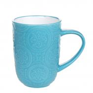 Чашка керамическая Flora Дамаск 0,4 л Бирюзовый 32008