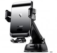 Автотримач для телефону Joyroom JR-ZS214 15W з бездротовою зарядкою Black