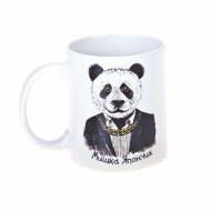 Чашка Шмидт Студия керамическая с принтом панда Мишка Япончик керамика 320 мл Белый ( 319338536 )
