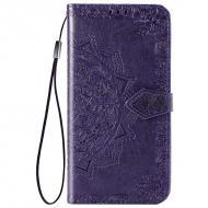 Шкіряний чохол книжка Art Case з візитницею для ZTE Blade A7s Фіолетовий