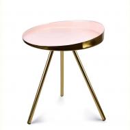 Столик металлический Flora Anisha Розовый (35321)