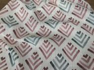 Ткань Maestro лен 280 см Белый/Серый/Розовый (000059453)
