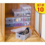 Набір пластикових коробок Tatkraft Glasgow для зберігання взуття (16118)