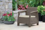 Крісло пластикове Keter Corfu Chair Капучино (242911)