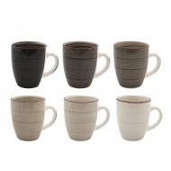 Набор чашек керамических Flora Loft микс 0,3 л 6 шт. (45229)