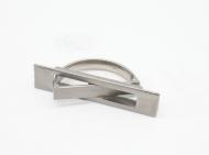 Ручка прихована металева 96х22х37 мм Срібний (В-1805)