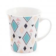 Чашка фарфоровая Flora Геометрия 0,37 л (31557)