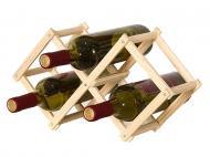 Винный стеллаж для бутылок вина из натурального дерева складной (1009-139-00)