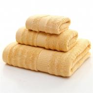 Набор Бамбуковых полотенец Светлый/Коричневый