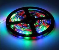 Світлодіодна стрічка 3528 LED RGB 5 м RGB контролер + блок живлення + Пульт