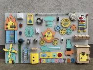 Бизиборд Busy Board HandMade в максимальной комплектации 100х60 см Разноцветный
