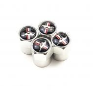 Захисні металеві ковпачки Primo на ніпель з логотипом Mustang Silver