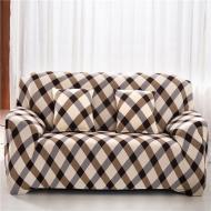 Чохол на 2-місний диван Homytex натяжний Клітка коричнева