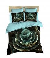 Комплект постельного белья LIGHTHOUSE ranforce+3D Astra бирюзовый 200*220/4*50*70
