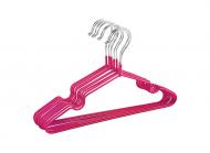 Набор вешалок металлических с силиконовым покрытием 10 шт Розовый