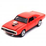 Машинка іграшкова Автопром 1970 Dodge Charger RT метал/світло/звук Червоний (3211)