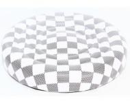 Стілець YRE шахматка без спинки Білий