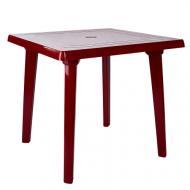 Стіл пластиковий Алеана квадратний  80x80 см Червоний