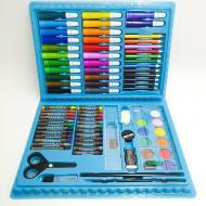 Набір для малювання та творчості Art set в валізці 86 предметів Блакитний