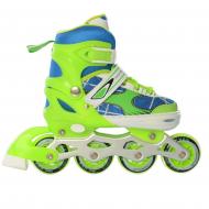 Ролики детские раздвижные Profi A-4141-M р. 35-38 Зеленый