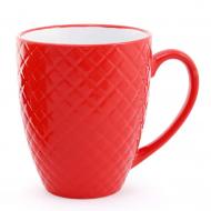 Чашка керамическая Flora Яркий микс 0,54 л Красный (28211)