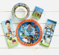 Набір дитячого скляного посуду Metr+ Щенячий патруль 5 предметів