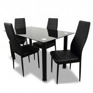 Комплект для кухни NordHome Panana стол и 4 стула Черный