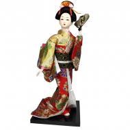 Кукла нинге Японка с веером 30 см (C1048)