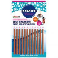 Палички чистячі Ecozone для стоків ферментативні Апельсин 12 шт.
