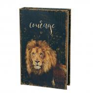 Книга-сейф на ключе Лев 26х17х5 см (0001-023)
