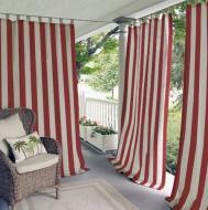 Ткань маркизная Dickson для уличных штор акриловая непромокаемая ширина 120 см Красный/Белый (8557)