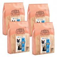 Набір HOME FOOD для дорослих котів гіпоалергенний 4 уп. по 1,6 кг