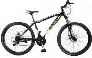 "Велосипед Cross Shark 2021 26"" рама 33 см Чорний/Жовтий"