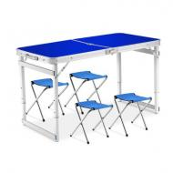 Стол для пикника раскладной Folding Table 4 стула Синий (iz12639)