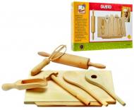 Дитячий ігровий дерев'яний набір посуду для випічки Bіno 7 предметів