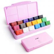 Художественная Гуашь HIMI 18 цветов 540 мл розовая коробка
