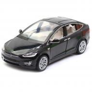 Машинка іграшкова Автопром Tesla метал/світло/звук Чорний (6603)