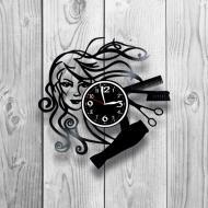 Часы настенные Салон красоты 0163 из виниловой пластинки