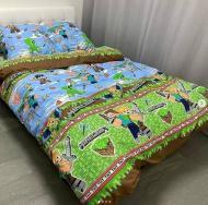 Комплект постельного белья Casa Ricco Майнкрафт полуторный 145х215 см (10042)