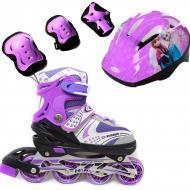 Роликовые коньки Набор Happy Combo Disney 29-33 Frozen Фиолетовый (2T3007E)